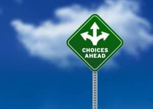 Choices sign