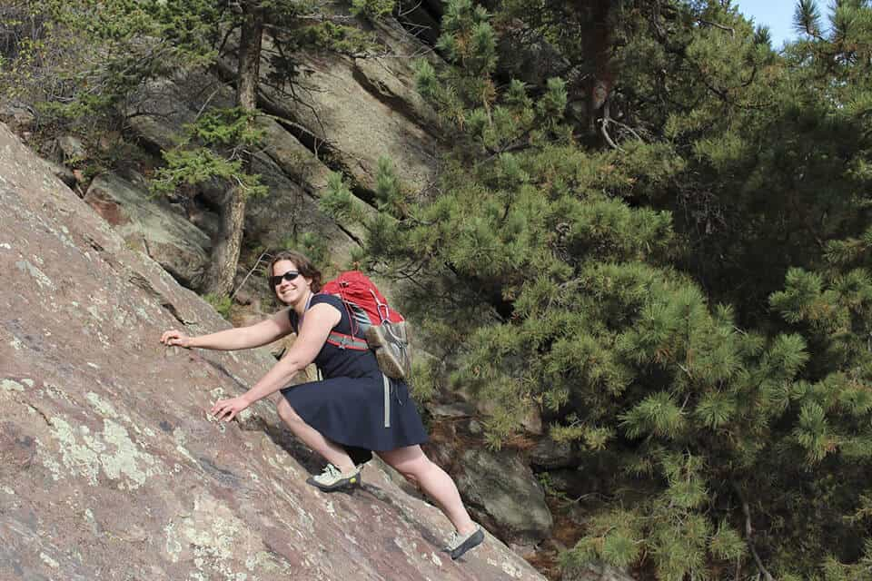 Climbing at Flatirons in Boulder, CO
