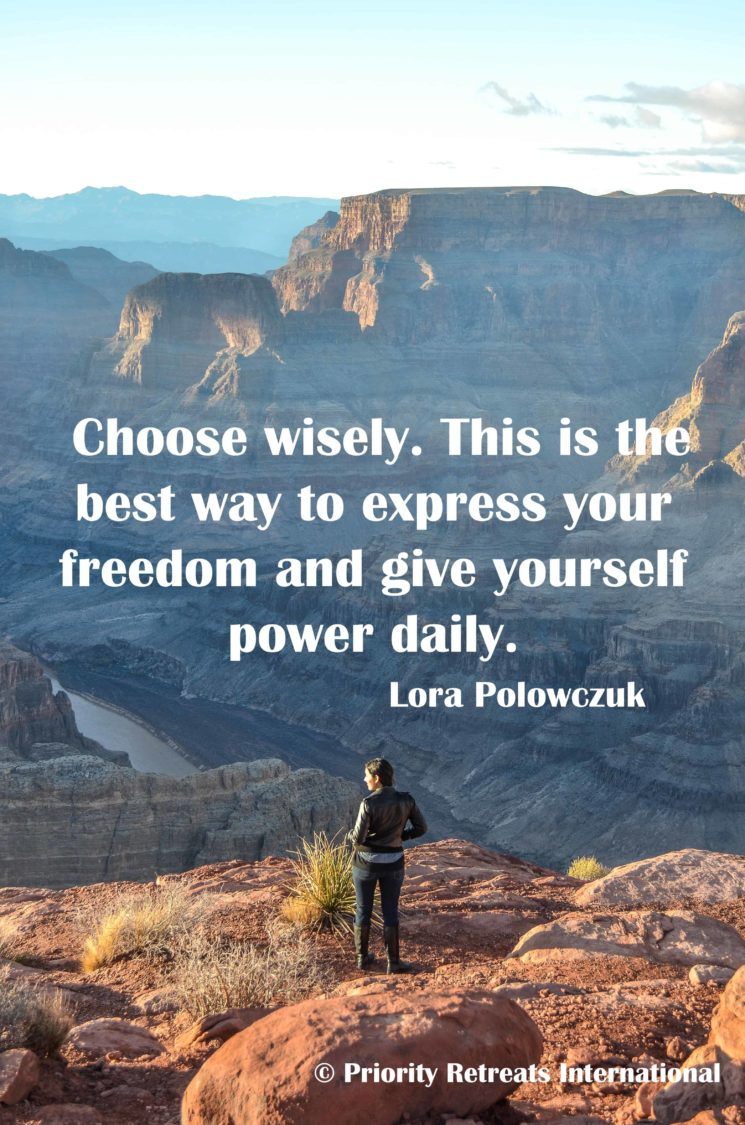 The interconnection between choice and freedom.